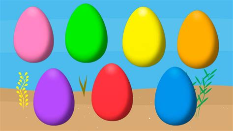 what are easter colors animated easter eggs for learning colors part 6