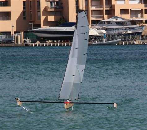 Hydrofoil Rc Boat by Rc Hydrofoil Sailing Part4 Hydrofoil Sailboats