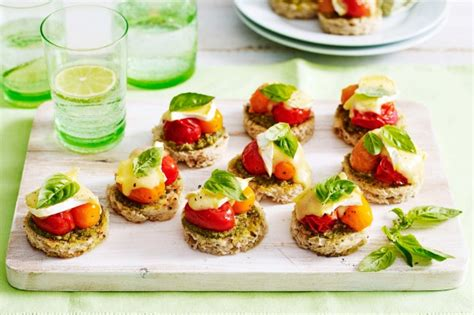 canapé simple mixed tomato canapes recipe taste com au