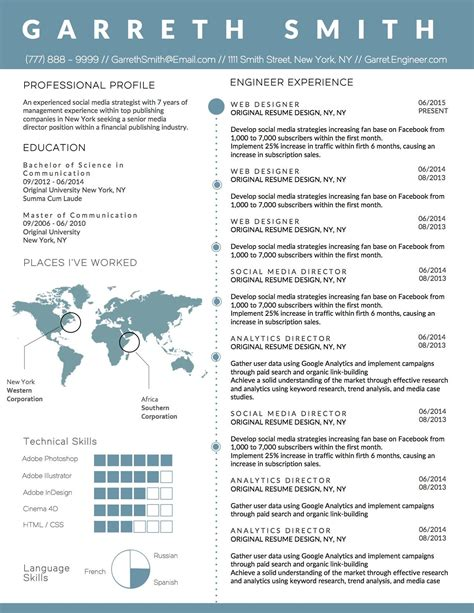creative infographic clean business resume template for