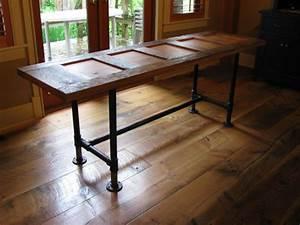 Custom made pipe frame tables and desks by Wesley Ellen