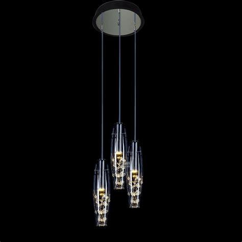 modern 15w led dining room top pendant light 3 glass