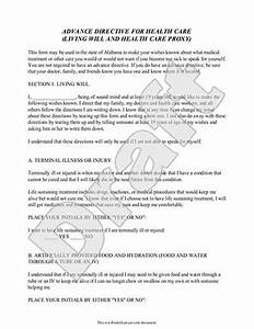 Living will form online template with free living will for Templates for wills free