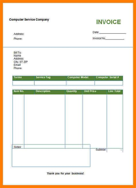 Format In Ms Word by 5 Bill Book Format For Computer Sle Travel Bill