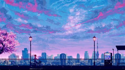 Anime Scenery Wallpaper Hd - 1920x1080 anime cityscape landscape scenery 5k laptop
