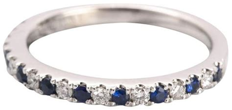 vera wang blue love diamond sapphire anniversary wedding band ring tradesy