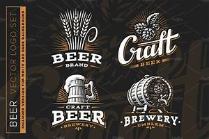 beer logo logo templates creative market With beer logo creator