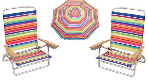 2 Classic 5 Position / Lay Flat Beach Chairs And Matching Sun Blocking Umbrella Lift Chairs Medicare Rolling Bath Chair Zero Gravity Massage White Bonded Leather Global Office Replacement Parts Coleman Deck Handmade Adirondack Floating Pool Bar With