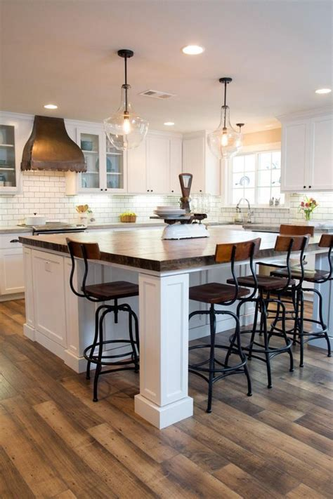 25+ Artistic Kitchen Island Ideas With Seating Joanna Gaines
