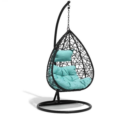 maison du monde siege fauteuil suspendu chill noir et bleu lagon transat