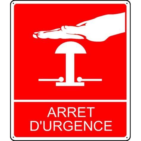 plaque de porte bureau pictogramme arrêt d 39 urgence stocksignes