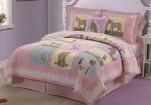 horse bedding girls horse quilt twin full queen bedding