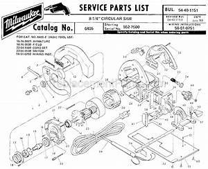 Milwaukee 6405 Parts List And Diagram