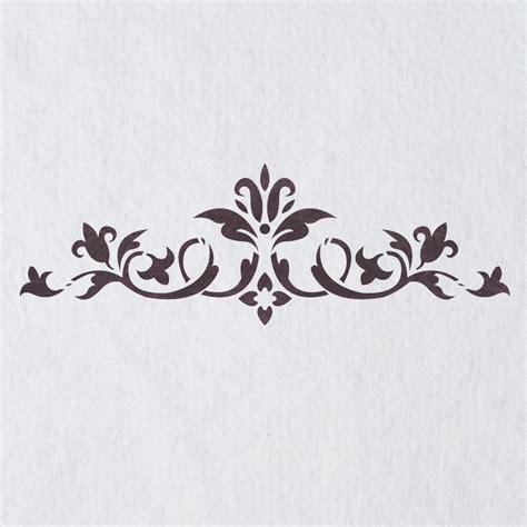 Muster Schablonen by Wall Stencils Border Stencil Pattern 072 Reusable Template