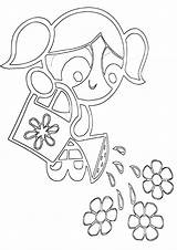 Watering Coloring Pages Print sketch template