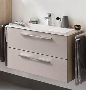 Waschtisch 65 Cm : puris fine line waschtisch mit unterschrank 62 65 cm breit badm bel 1 ~ Frokenaadalensverden.com Haus und Dekorationen
