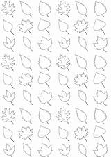 Leaves Printable Coloring Paper Pattern A4 Wrapping Freebie Wrap Geschenkpapier Ausdruckbares Fall sketch template
