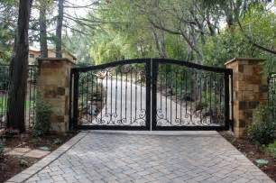 Country Style Living Room Lamps by Automatic Ornamental Iron Driveway Gates Mediterranean
