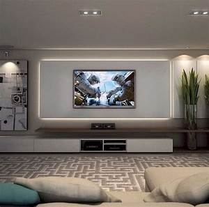 Wohnzimmer Tv Wand Ideen : inspirierte tv wand wohnzimmer ideen 45 wohnzimmer idee in 2019 pinterest living room ~ Orissabook.com Haus und Dekorationen