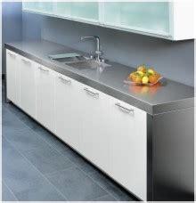 Küche Mit Edelstahl Arbeitsplatte  Hause Deko Ideen