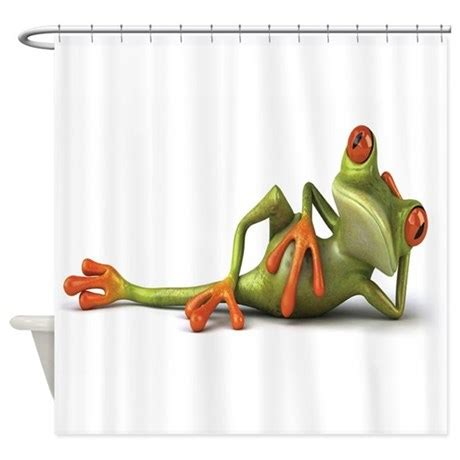 frog shower curtain frog shower curtain by floridesigns