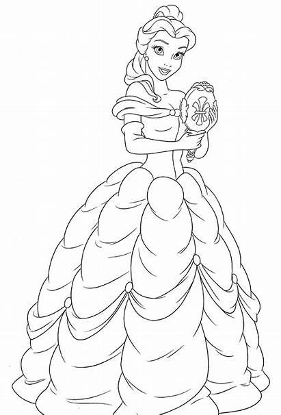 Belle Coloring Princess Disney Walt Characters Fanpop