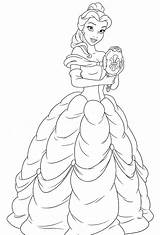 Belle Coloring Princess Disney Walt Characters Fanpop Mylifeuntethered sketch template