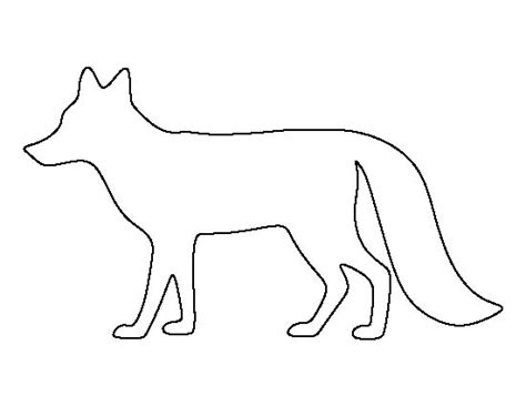 Template Of A Fox by Fox Pattern Use The Printable Outline For Crafts