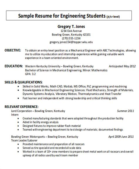examples  career objective templates  ms word