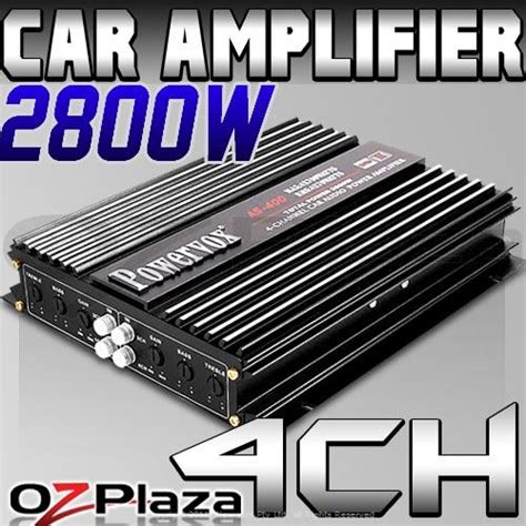 Giantz Powervox Channel Car Amplifier Amp Audio