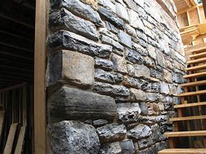 Interior Design Stone Wall With Simple Exposed Rustic