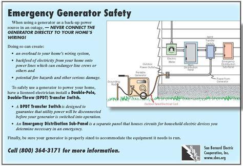 generator safety san bernard electric cooperative