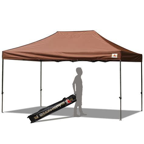 10 x 15 canopy abccanopy 10x15 deluxe brown pop up canopy with roller bag
