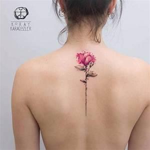 Tatouage De Femme : tatouage de femme tatouage fleur aquarelle sur dos ~ Melissatoandfro.com Idées de Décoration