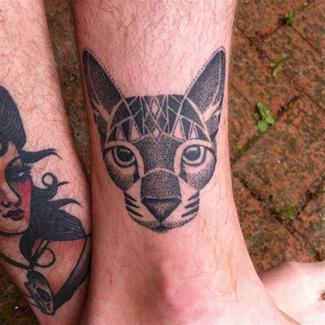 minimalistic cat tattoos  cat lovers architecture