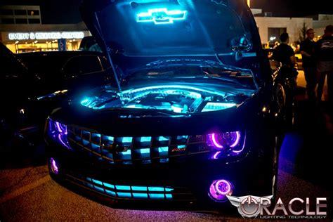 purple halo lights chevy camaro with purple modified headlights and custom