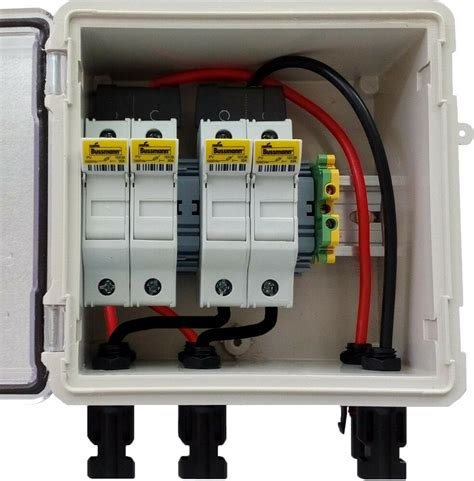 Dc Fuse Box Home by Pv Solar 2 String Dc Combiner Box With 4 Fuses Pre Wired