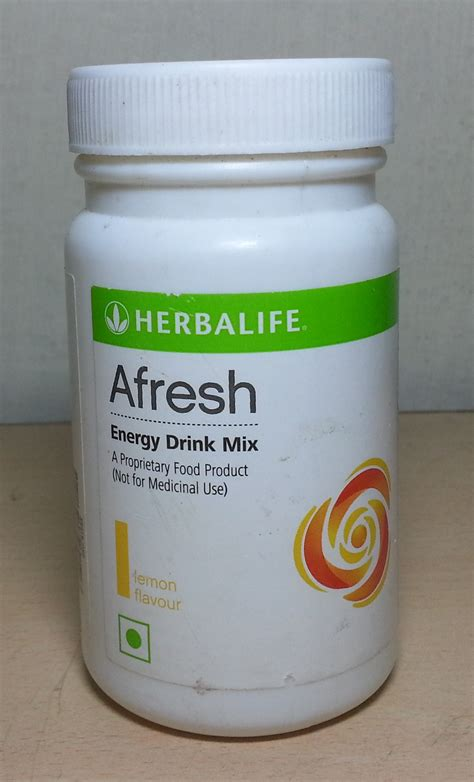 Herbalife Afresh Ginger Flavor Energy Drink Mix Available