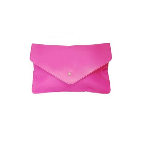 Pink Clutch Bag  Leather Travel Bags