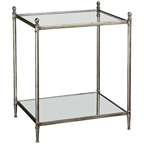 Uttermost Glass Ls by Uttermost Gannon Mirrored Glass End Table 3f821 Ls