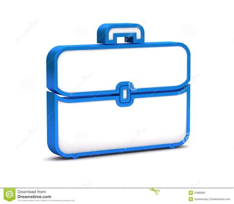 11967 briefcase icon flat blue briefcase icon stock illustration illustration of