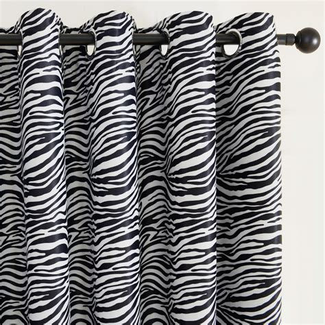 black and white print curtains top finel modern curtain black and white zebra print