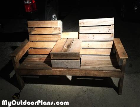 diy pallet double chair bench  table myoutdoorplans