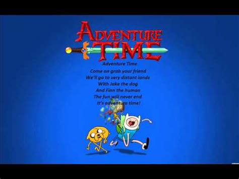 adventure time extended theme song with lyrics youtube