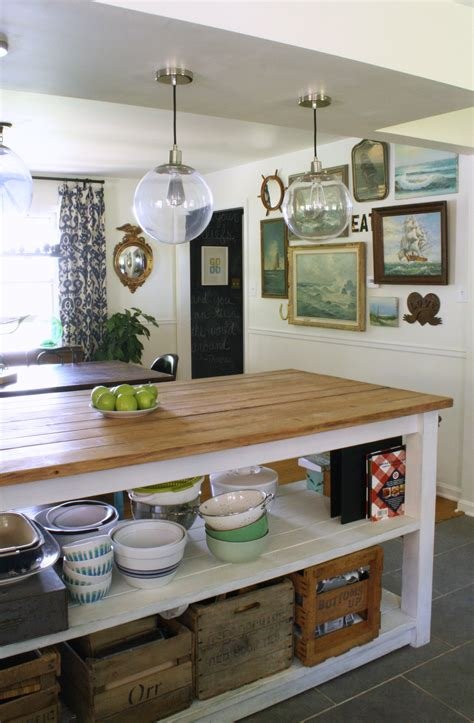 kitchen island with open shelves dining room makeover
