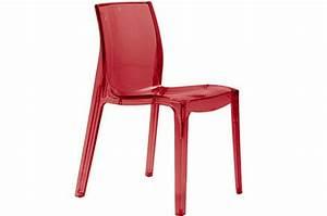 Chaise Rouge Design : chaise rouge transparente lady chaises design pas cher ~ Teatrodelosmanantiales.com Idées de Décoration