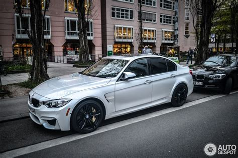 Mineral White by F80 Bmw M3 Sedan In Mineral White
