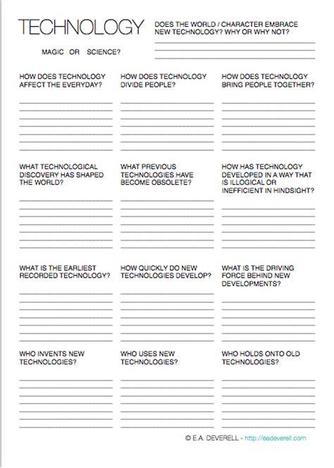 technology writing worksheet wednesday