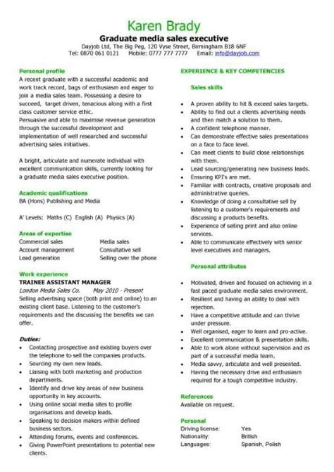 Exle Of A Well Written Cv by Exle Of A Well Written Cv Letters Free Sle Letters