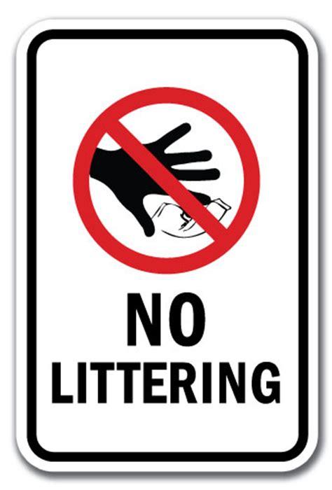 "No Littering Sign 12"" X 18"" Heavy Gauge Aluminum Signs"
